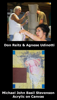 Agnese Udinotti and Don Reitz. Michael Stevenson painting.
